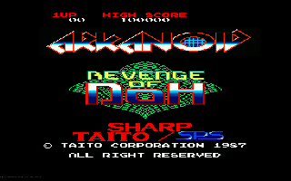 Screenshot Thumbnail / Media File 1 for Arkanoid Revenge of Doh (1987)(Sharp - SPS)[a2]
